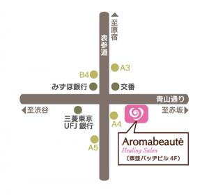 アロマボーテ地図